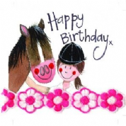 Alex Clark Art - Greeting Card - Little Sparkles - Horse & Rider